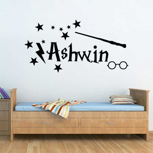 Personalized Name Harry Potter Inspired Font Vinyl Wall Art Decal