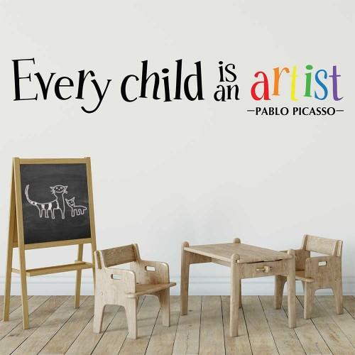 Every Child is an Artist Vinyl Wall Art Decal