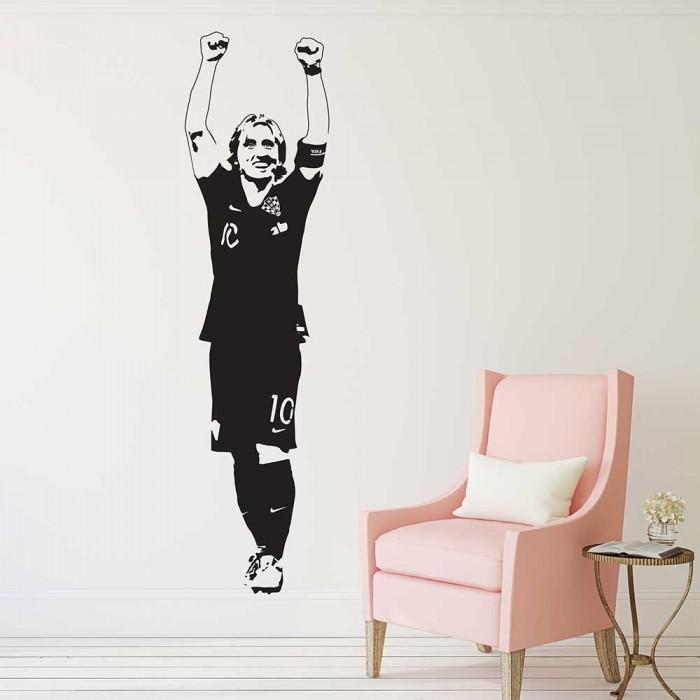 Luka Modric Kroatien Fussball Wandaufkleber Wandtattoo
