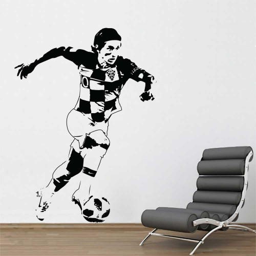 Luka Modrić Croatia Football Player Vinyl Wall Art Decal
