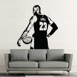 LeBron James NBA Basketball Vinyl Wall Art Decal (WD-1156)
