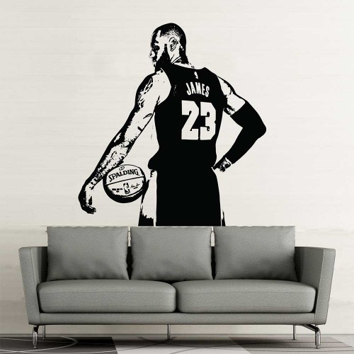 LeBron James NBA Basketball Vinyl Wall Art Decal