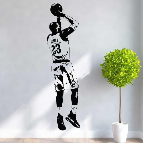 LeBron James 23 NBA Basketball Vinyl Wall Art Decal