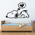 Snoopy peanut Dream Vinyl Wall Art Decal