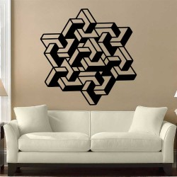 Geometric Art Vinyl Wall Art Decal (WD-1162)