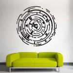 Maze Wall Art Labyrinth Vinyl Wall Art Decal