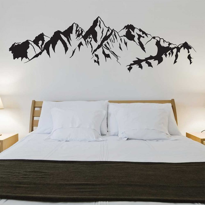 Mountains and Trees Vinyl Wall Art Decal