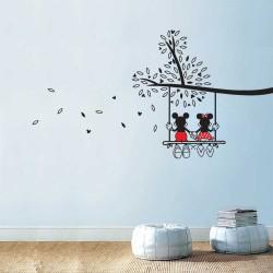 สติกเกอร์ติดผนัง มิกกี้ มินนี่ เมาส์ Mickey Minnie Mouse  / Wall Sticker  (WD-1166)