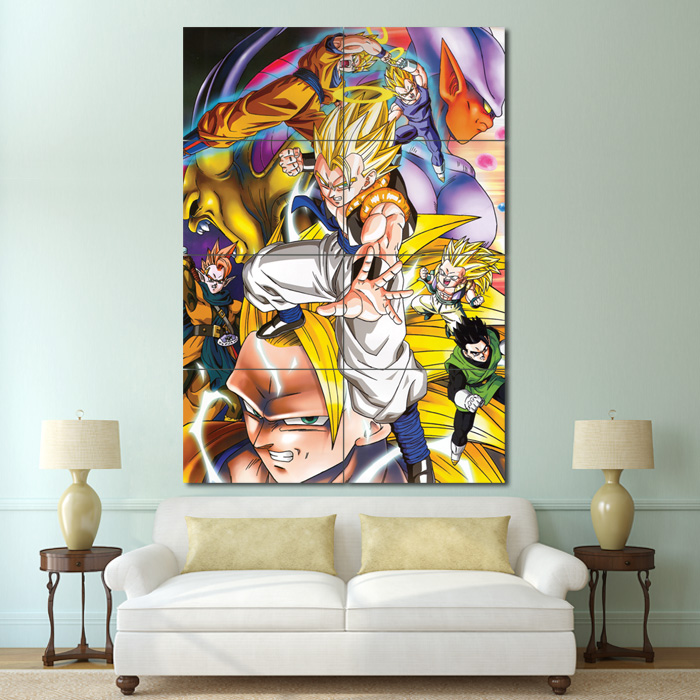 Dragon ball z anime block giant wall art poster for Decoration murale dragon ball