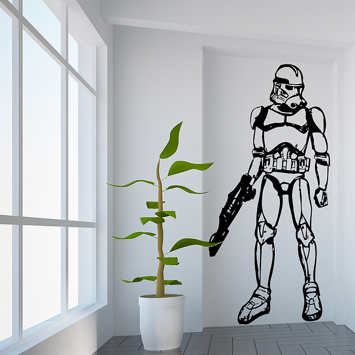 star wars stormtrooper wandaufkleber wandtattoo. Black Bedroom Furniture Sets. Home Design Ideas